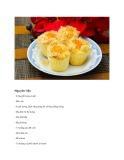 Cách làm bánh bông lan chà bông trứng muối nhân phô mai
