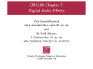 Lecture BSc Multimedia - Chapter 7: Digital audio effects