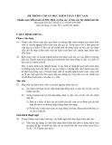 Hệ thống chuẩn mực kiểm toán Việt Nam - Chuẩn mực kiểm toán số 810: Dịch vụ báo cáo về báo cáo tài chính tóm tắt