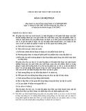 Hệ thống chuẩn mực kế toán Việt Nam số 28: Báo cáo bộ phận