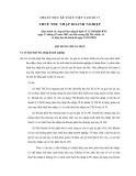 Hệ thống chuẩn mực kế toán Việt Nam số 17: Thuế thu nhập doanh nghiệp