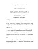 Hệ thống chuẩn mực kế toán Việt Nam số 1: Chuẩn mực chung