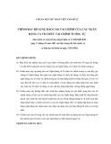 Hệ thống chuẩn mực kế toán Việt Nam số 22: Trình bày bổ sung báo cáo tài chính của các ngân hàng và tổ chức tài chính tương tự
