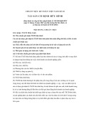 Hệ thống chuẩn mực kế toán Việt Nam số 3: Tài sản cố định hữu hình