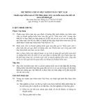 Hệ thống chuẩn mực kiểm toán Việt Nam - Chuẩn mực kiểm toán số 330: Biện pháp xử lý của kiểm toán viên đối với rủi ro đã đánh giá