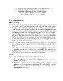 Hệ thống chuẩn mực kiểm toán Việt Nam - Chuẩn mực kiểm toán số 520: Thủ tục phân tích