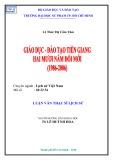 Luận văn Thạc sĩ Lịch sử: Giáo dục - Đào tạo Tiền Giang hai mươi năm đổi mới (1986 - 2006)