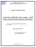 Luận văn Thạc sĩ Vật lý: Khảo sát phổ kế năng lượng - Thời gian sử dụng đầu dò bán dẫn HPGe