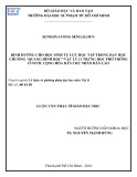 """Luận văn Thạc sĩ Giáo dục học: Định hướng cho học sinh tự lực học tập trong dạy học chương """"Quang hình học"""" Vật lý 11 trung học phổ thông ở nước Cộng hòa Dân chủ Nhân dân Lào"""