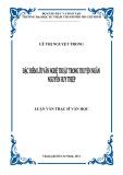 Luận văn Thạc sĩ Văn học: Đặc điểm lời văn nghệ thuật trong truyện ngắn Nguyễn Huy Thiệp