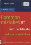 Ebook Common mistakes at first certificate