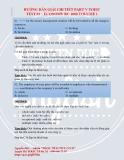 Hướng dẫn giải chi tiết Part v toeic test 01 – Economy rc 1000 volume 1