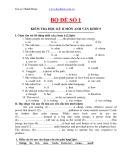 Tổng hợp đề kiểm tra môn Tiếng Anh lớp 9 (kèm đáp án)