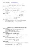 Đề kiểm tra Đại số chương IV lớp 10
