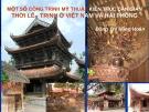 Một số công trình mỹ thuật kiến trúc dân gian thời Lê - Trịnh ở Việt Nam và Hải Phòng
