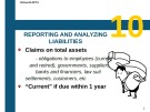 Lecture Introduction to financial accounting - Chapter 10: Reporting and analyzing liabilities