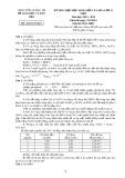 Đề thi chọn học sinh giỏi môn Hóa học lớp 11 THPT năm 2013-2014 - Sở GD&ĐT tỉnh Quảng Trị