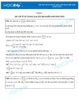 Bài tập về sự tương giao liên quan đến hàm phân thức