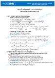 Một số phép biến đổi thường dùng khi giải phương trình lượng giác