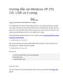Hướng dẫn cài Windows XP (Từ CD, USB và ổ cứng)
