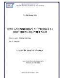 Luận văn Thạc sĩ Văn học: Hình ảnh người kỹ nữ trong Văn học trung đại Việt Nam