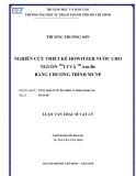 Luận văn Thạc sĩ Vật lý: Nghiên cứu thiết kế Howitzer nước cho nguồn 252Cf và 241Am-Be bằng chương trình MCNP