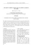 Tổng hợp và nghiên cứu phức chất của europi và gadolini với L-serin