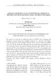 Đánh giá ảnh hưởng của tỷ lệ COD/TP đến quá trình xử lý photpho, nitơ trong hệ thống A2O quy mô phòng thí nghiệm