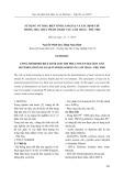 Sử dụng vỏ trấu biến tính làm giàu và xác định chì trong mẫu thực phẩm ở khu vực Lâm Thao – Phú Thọ