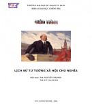 Giáo trình Lịch sử tư tưởng Xã hội chủ nghĩa: Phần 1