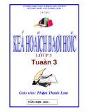 Kế hoạch bài học lớp 5 tuần 3