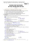 Phương pháp giải nhanh đề trắc nghiệm môn hoá học (Phần 1)