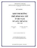 Luận văn Thạc sĩ Ngữ văn: Khuynh hướng phê bình Mác - Xít ở Việt Nam nửa đầu thế kỷ XX (1900 - 1945)
