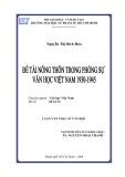 Luận văn Thạc sĩ Văn học: Đề tài nông thông trong phóng sự Văn học Việt Nam 1930 - 1945