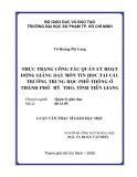 Luận văn Thạc sĩ Giáo dục học: Thực trạng công tác quản lý hoạt động giảng dạy môn Tin học tại các trường trung học phổ thông ở thành phố Mỹ Tho, tỉnh Tiền Giang