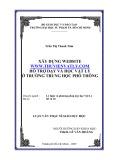 Luận văn Thạc sĩ Giáo dục học: Xây dựng website www.thuvienvatly.com hỗ trợ dạy và học Vật lý ở trường trung học phổ thông