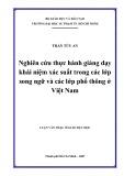 Luận văn Thạc sĩ Giáo dục học: Nghiên cứu thực hành giảng dạy khái niệm xác suất trong các lớp song ngữ và các lớp phổ thông ở Việt Nam