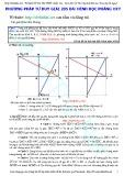 Phương pháp tư duy giải 205 bài Hình học phẳng oxy