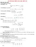 Bài tập đại cương Hóa học hữu cơ (Ôn thi ĐH)