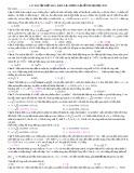 Các bài tập điện hay - khó - lạ - nhưng lại dễ thi Đại học 2012