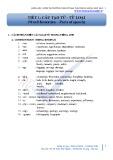 Tiết 1: Cấu tạo từ - từ loại (Word formation – Parts of speech)