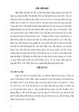 Bài thảo luận nhóm: Tranh chấp hợp đồng gửi giữ tài sản