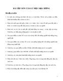 Bài tập môn Tâm lý học đại cương