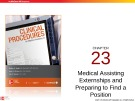 Lecture Clinical procedures for medical assisting (4/e): Chapter 23 – Booth, Whicker, Wyman
