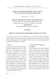 Khảo sát thành phần hóa học cao etyl aetat của vỏ cây đào tiên (Crescentia Cujete)