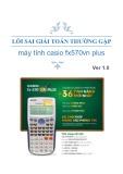 Lỗi sai giải toán thường gặp máy tính Casio Fx570vn Plus