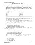 Bài tập Toán tài chính - ThS. Đoàn thị Thu Trang