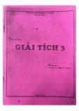 Bài giảng Giải tích 3 - ThS. Phan Văn Danh
