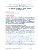 Tái chế giấy ở các nước trong khu vực và ở Việt Nam