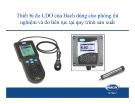 Bài giảng Thiết bị đo LDO của Hach dùng cho phòng thí nghiệm và đo liên tục tại quy trình sản xuất